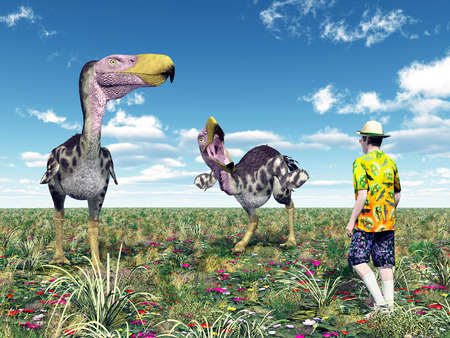reckless: Terror Bird Kelenken and reckless Tourist