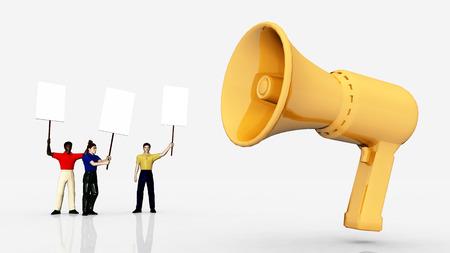 demanding: Demonstration - Megaphone