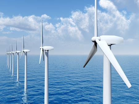 Offshore-Windpark Standard-Bild - 35133015