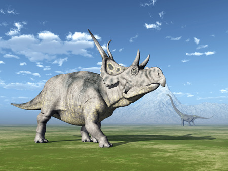 steppe: The Dinosaurs Diabloceratops and Mamenchisaurus