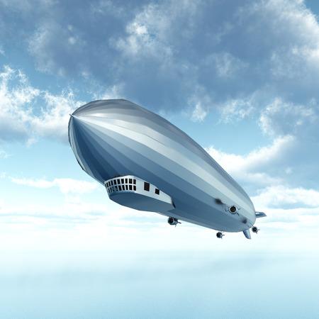 luftschiff: Luftschiff �ber dem Ozean