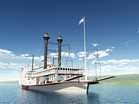 Steamboat of the Mississippi Stock Photo