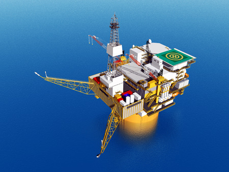 natural gas production: Oil Platform Stock Photo