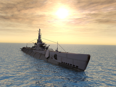 WW2 の潜水艦 USS トリガー