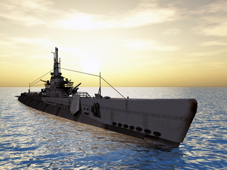 3d boat: Submarine USS Trigger of WW2