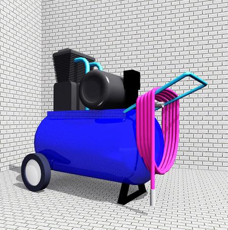 air compressor: Air Compressor Stock Photo