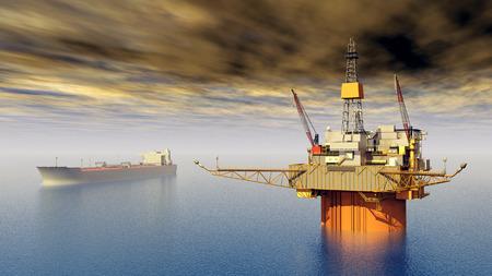 pozo petrolero: Superpetrolero y Plataforma petrolera