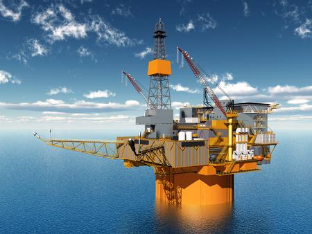 oil platform: Oil Platform Stock Photo