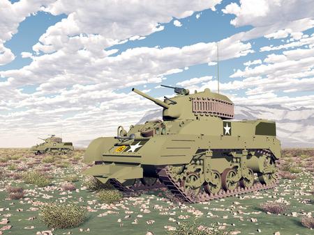 world war two: American light tanks of World War 2