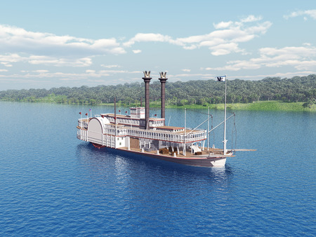 Steamboat of the Mississippi Standard-Bild