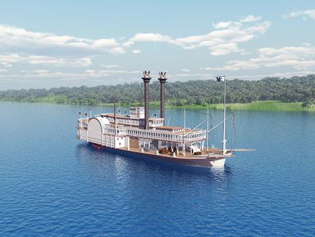 Stoomboot van de Mississippi