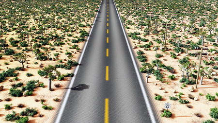 roadway: Route 66 in the USA Stock Photo
