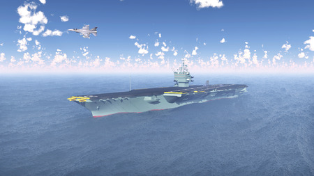 Aircraft Carrier and Fighter Plane