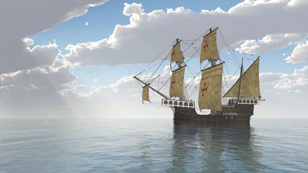 caravelle: Portugais Caravel du XVe siècle