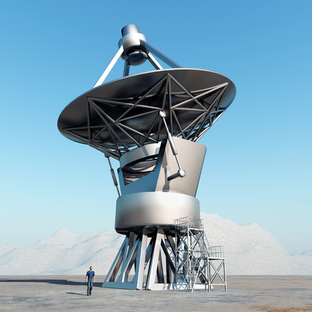 cosmology: Giant telescope Stock Photo
