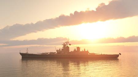 ww2: American battleship of World War 2