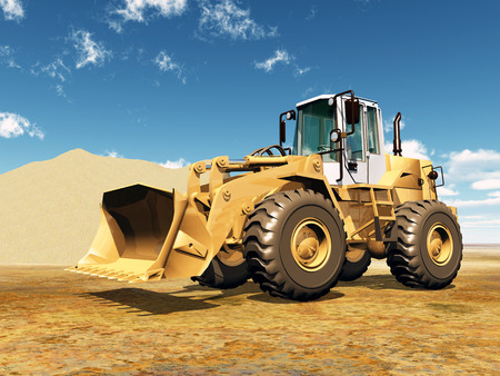 loader: Wheel Loader Stock Photo