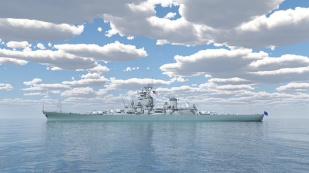 us military: American battleship of World War 2