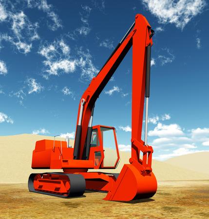 crawler: Excavator Stock Photo