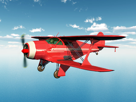 biplane: American biplane from the 1930s