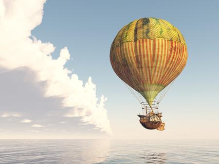 luftschiff: Fantasie-Luftballon Lizenzfreie Bilder