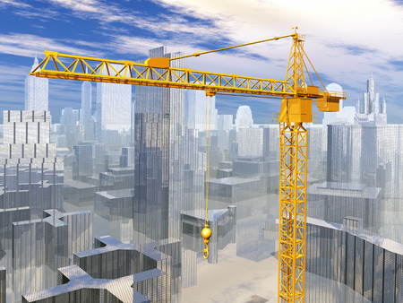 building trade: Construction crane