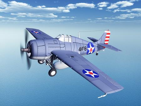 avion chasse: Avion de chasse am�ricain de la Seconde Guerre mondiale