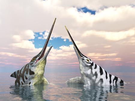 extinction: Ichthyosaur Eurhinosaurus Stock Photo