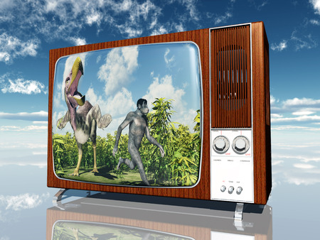 television antigua: Old TV