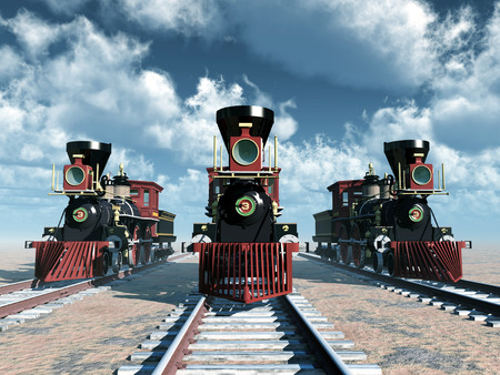 American steam locomotives from the 1850s