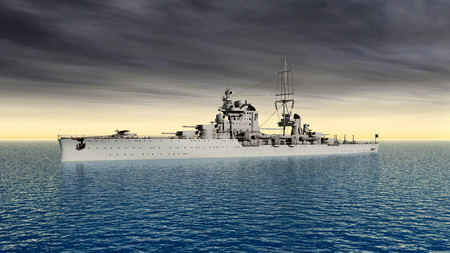 ii: Italian cruiser of World War II Stock Photo