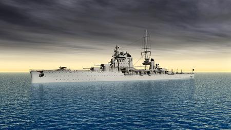 world war ii: Italian cruiser of World War II Stock Photo