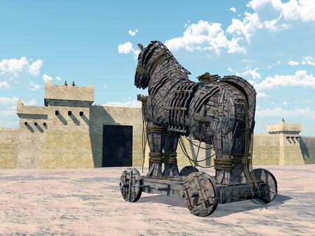 homer: Trojan Horse Stock Photo