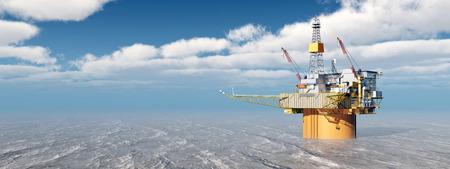 natural gas: Oil platform
