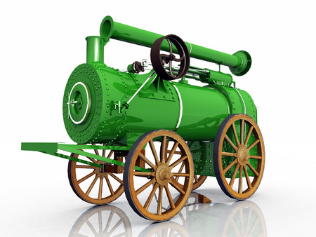 steam traction: Traction engine Stock Photo