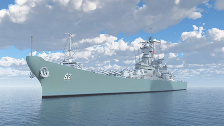us military: American battleship of World War II