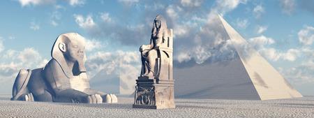 sphinx: Esfinge egipcia, estatua y pirámides