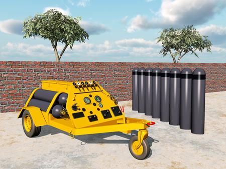 industrial vehicle: Nitrogen and oxygen cart