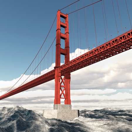 suspension bridge: Golden Gate Bridge in San Francisco