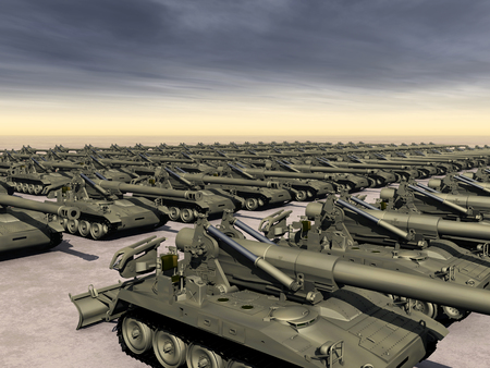 howitzer: Arms race Stock Photo