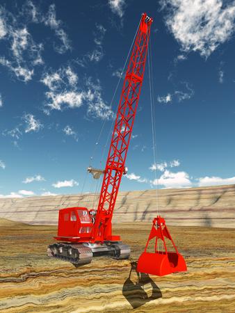 industrial vehicle: Dragline excavator
