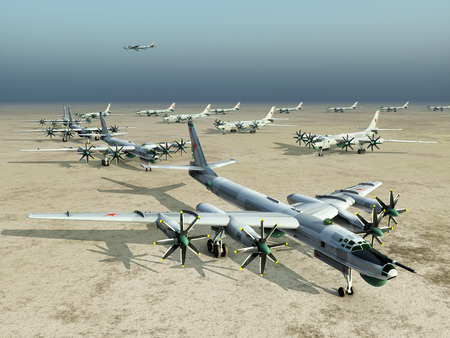 airfield: Arms race Stock Photo