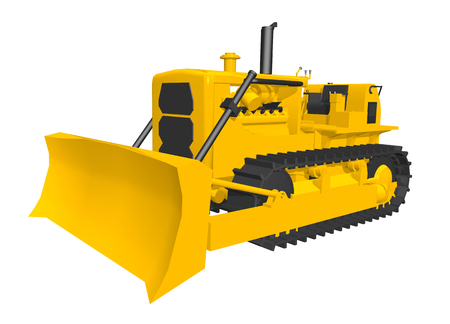 dozer: Bulldozer isolated on white background Stock Photo