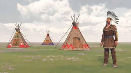 llanura: Indio de llanos y campo indio