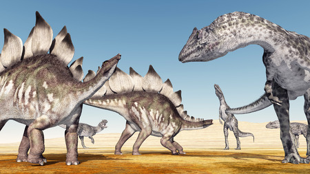 stegosaurus: Allosaurus ataca Stegosaurus