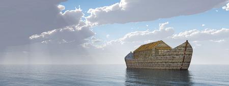 Arca de Noé después de la tormenta Foto de archivo