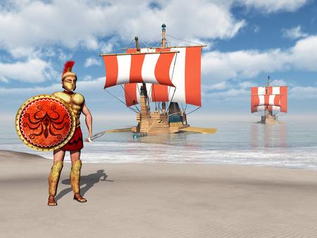 antica grecia: Opliti e galee dell'antica Grecia