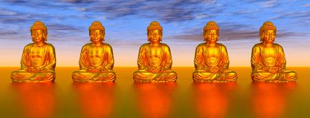 buddha statue: Statues of Buddha