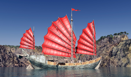 Chinese junk ship Stock Photo - 50008493