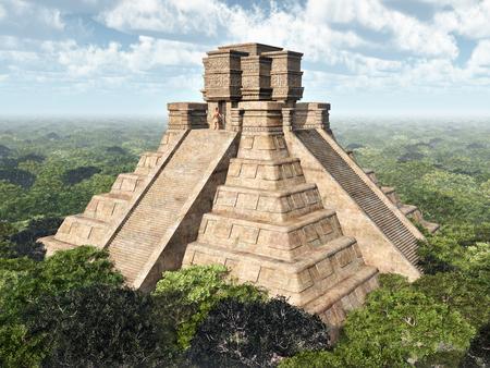 cultura maya: Templo maya Foto de archivo